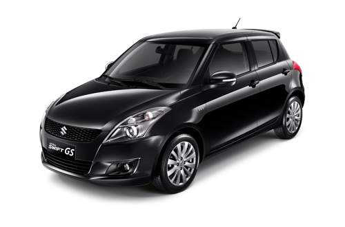 All New Swift GS Super Black Metallic